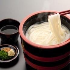 <石丸製麺>讃岐ぶっかけうどんセット(4人前)・半生讃岐うどん包丁切り(つゆ付)(2人前)