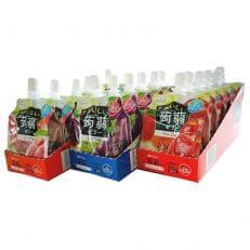 おいしい蒟蒻シリーズ りんご味・ぶどう味・ピーチ味(各6袋)セット