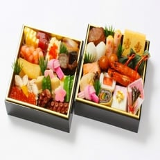 料亭わらび 迎春冷凍おせち【32品目】二段重