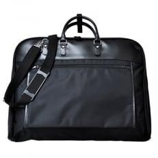 スーツの持ち運びに便利なガーメントバッグ [ブラック] D077