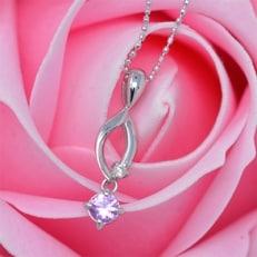 ピンクサファイア ダイヤモンド ネックレス ペンダント ルビー付 (ソープフラワー付 ギフトセット)