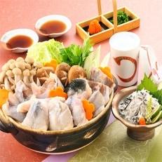 九州冬の味覚【とらふぐちり鍋・皮湯引き】2~3人前 鍋のシメに中間産米麺付 レシピ付で簡単