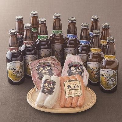 大山Gビール&大山ハム