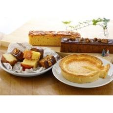 ベイクドチーズケーキと2種類のパウンドケーキの詰め合わせ