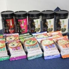 有明海苔&フリーズドライお味噌汁セット 化粧箱入り (MISF-50G)