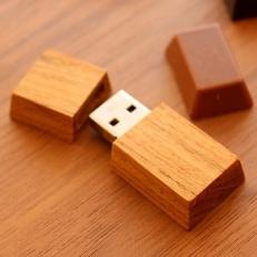 【Hacoa】木製USBメモリ「Chocolat Mini」 チーク