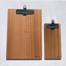 十津川杉のクリップボード 2枚セット(Mサイズ・Lサイズ)