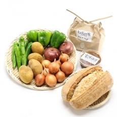 自然栽培(農薬・肥料不使用)のお米や野菜、自家製天然酵母パンをお届け