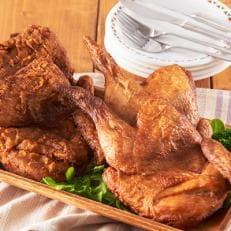 【完全受注生産!新潟名物】鶏の半羽唐揚げセット(カレー味&旨塩味各2枚)