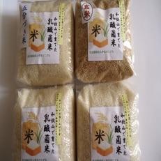 乳酸菌で育てたお米(白米×2・玄米×1・五分づき×1)詰合せ