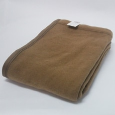 【ふるさと納税】キャメル毛布(毛羽部分)シングルサイズ