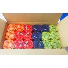 フルーツゼリー(オレンジ、アップル、グレープ、ストロベリー)詰め合わせ 54個入