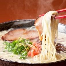 博多とんこつラーメン8杯分と替え玉4玉の計12食セット(2種類のスープ)福岡産ブランドラー麦使用)