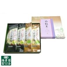 有機宇治茶味わいセット 有機宇治玉露 有機宇治緑茶(上煎茶)80g×各2本