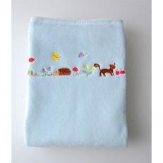 ベビー綿毛布(ハリネズミBu)85×115cm