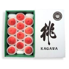 香川県の桃<滴る果汁とあふれる果肉が自慢>大玉の桃4kgの詰め合わせ