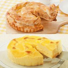 金の林檎 アップルパイとクリームチーズケーキセット