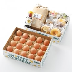 焼きドーナツと卵かけごはん(卵・米・醤油)セット