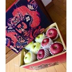 【青森りんご】ふじりんご発祥地の【サンふじ&王林ミックス】3kg 規格外品