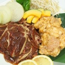阿部精肉店の味付きジンギスカン(400g×2個)シマチョウ(みそ味300g×2個)