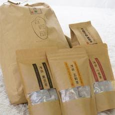 【平成30年産】無洗米コシヒカリ10kgと手間なしゴロゴロ雑穀米とノンカフェイン穀物茶3種類のセット