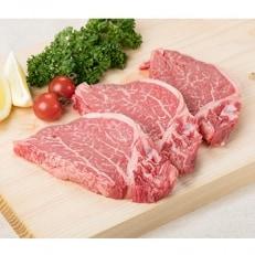 (九州産限定)国産交雑種牛ヒレ肉ステーキ用1枚約100g×3枚セット(ステーキソース付き)
