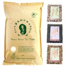 夢民村のお米「あや」10kgと発芽雑穀セット