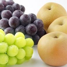 【秋の味覚セット】人気のブドウ2種&旬の梨の詰め合わせ【信州グルメ市場】