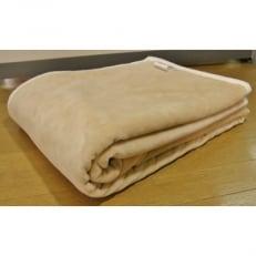 シール織り綿毛布(ベージュ) 米阪パイル織物株式会社