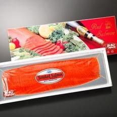 紅鮭燻製スライス300g(化粧箱入り)_A155