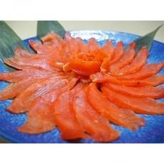 魚沼美雪ますの熟成スモークサーモン(フィレー1枚)