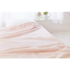 【ふるさと納税】綿100%綿毛布シングルサイズ・ピンク色