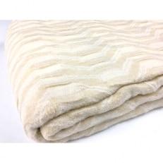 吸湿発熱 くしゅくしゅ 綿毛布 シングル ベージュ