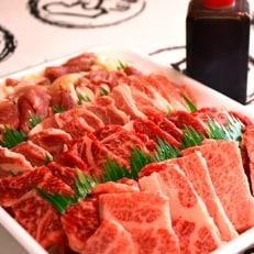 やまちゃん焼肉セット 計約1kg (オリジナルタレ付き)