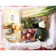 【福祉施設提供】季節の野菜と手打ちうどんと加工品のセット