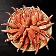 稚内産紅ズワイガニ爪特大サイズ1kg あふれ出すカニの旨味が至高の爪肉