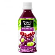 ミニッツメイド朝の健康果実カシス&グレープ 350mlPET 1ケース(24本)