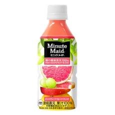 ミニッツメイド朝の健康果実ピンク・グレープフルーツ・ブレンド 350mlPET 1ケース(24本)