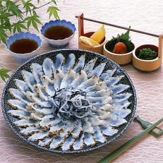 とらふぐたたき刺身 菊盛25cm中皿 2~3人前(皮湯引き付)