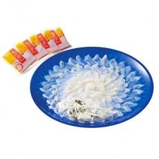 おうごんとらふぐ刺身大皿盛