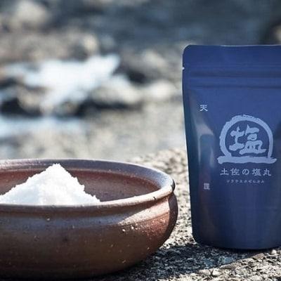 「天日海塩」土佐の塩丸(青丸、細かい粒) 2袋セット [1171]