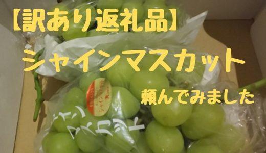 返礼品に数量限定の「訳あり果物」がオススメ 私が頼んだシャインマスカットを紹介