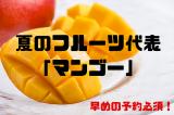 夏のフルーツ代表 「マンゴー」