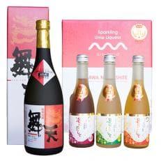 特産品コンテスト 県知事賞受賞酒「シュワシュワ梅酒」3本と地元で人気の泡盛「舞天ぶーてん」セット