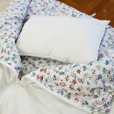 「エコな羽毛」3WAY 寝袋クッション|ぺタル|アップサイクルダウン