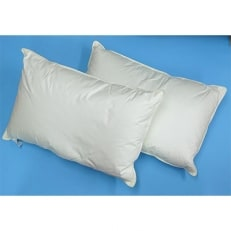 ふかふか ダウンピロー 2個 枕カバー グリーン2枚付 (羽毛枕)