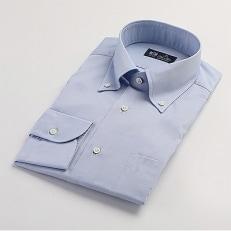 HITOYOSHIシャツBDブルーオックスフォード紳士用40-84