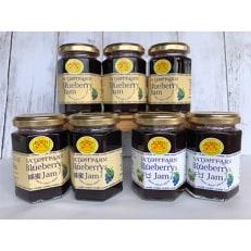 上三川産のブルーベリーに蜂蜜やイチゴをブレンドした美味しいジャムのセット(3種 計7本)