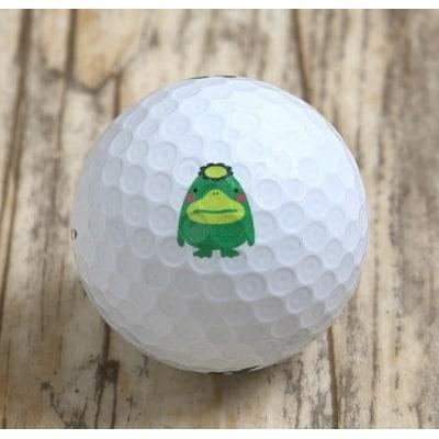 【久留米市オリジナル】「くるっぱ」のゴルフボール「TOUR B JGR」久留米絣の小物入れ付