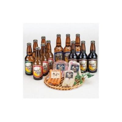 大山Gビール(3本×4種)&大山ハム(4種)セット【髙島屋選定品】